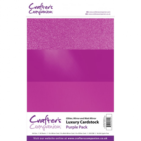 Crafters Companion Luxury Cardstock Pack - Purple