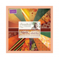 "Crafters Companion Sara Signature Collection - Autumn Morning 12"" x 12"" Paper Pad"