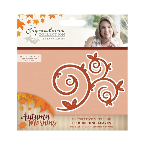 Crafters Companion Sara Signature Collection - Autumn Morning Metal Die - Flourish Leaves