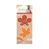 Crafters Companion Sara Signature Collection - Autumn Morning Metal Die - Leaves are Falling