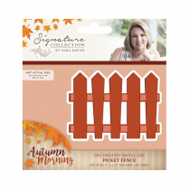 Crafters Companion Sara Signature Collection - Autumn Morning Metal Die - Picket Fence