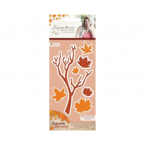 Crafters Companion Sara Signature Collection - Autumn Morning Metal Die - Scattered Leaves