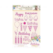 Crafters Companion Sara Signature Collection - Birthday Party A6 Photopolymer Stamp - Lets Party