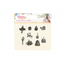 Crafters Companion Sara Signature Collection - Birthday Party Metal Charms