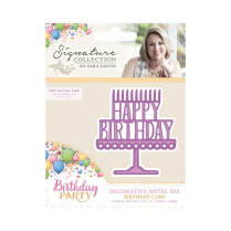 Crafters Companion Sara Signature Collection - Birthday Party Metal Die - Birthday Cake