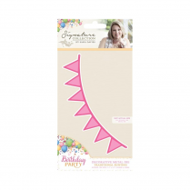 Crafters Companion Sara Signature Collection - Birthday Party Metal Die - Traditional Bunting