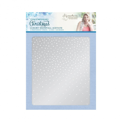 Crafters Companion Sara Signature Collection - Contemporary Christmas A4 Luxury Snowfall Acetate