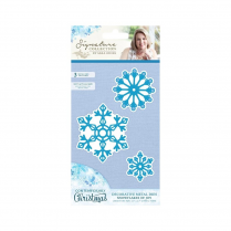 Crafters Companion Sara Signature Collection - Contemporary Christmas Metal Die - Snowflakes of Joy