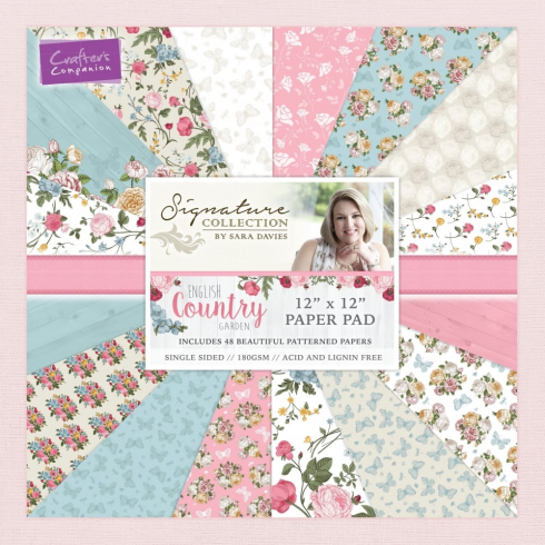 "Crafters Companion Sara Signature Collection - English Country Garden 12"" x 12"" Paper Pad"