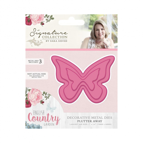Crafters Companion Sara Signature Collection - English Country Garden Metal Die - Flutter Away
