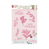 Crafters Companion Sara Signature Collection - English Country Garden Photopolymer A6 Stamp Set - Beautiful Leaves