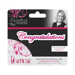 Crafters Companion Sara Signature Collection - Glamour Metal Die - Congratulations