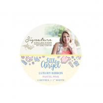 Crafters Companion Sara Signature Collection - Little Angel Luxury Ribbon - Pastel Pink