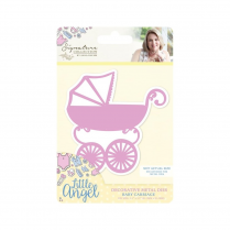 Crafters Companion Sara Signature Collection - Little Angel Metal Die - Baby Carriage