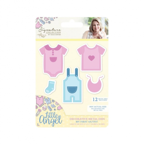 Crafters Companion Sara Signature Collection - Little Angel Metal Die - My First Outfit