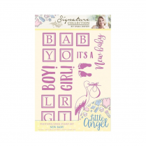 Crafters Companion Sara Signature Collection - Little Angel Stamp - New Baby