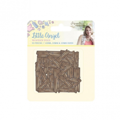 Crafters Companion Sara Signature Collection - Little Angel Wooden Pegs