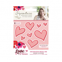 Crafters Companion Sara Signature Collection - Love & Romance Die - Heart Cluster