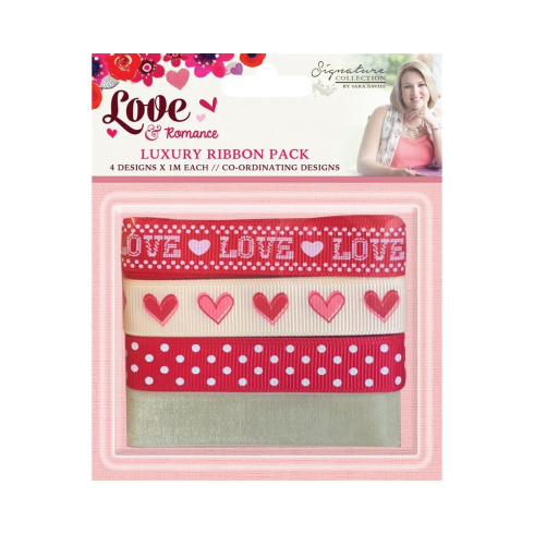 Crafters Companion Sara Signature Collection - Love & Romance Luxury Ribbon Pack