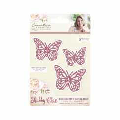 Crafters Companion Sara Signature Collection - Shabby Chic Metal Die - Chic Butterflies