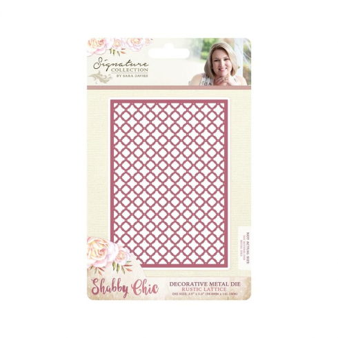 Crafters Companion Sara Signature Collection - Shabby Chic Metal Die - Rustic Lattice