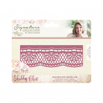 Crafters Companion Sara Signature Collection - Shabby Chic Metal Die - Vintage Lace Edge