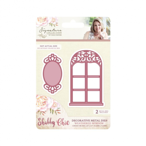 Crafters Companion Sara Signature Collection - Shabby Chic Metal Die - Weathered Window