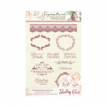 Crafters Companion Sara Signature Collection - Shabby Chic Photopolymer Stamp - Heartfelt Thanks