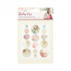 Crafters Companion Sara Signature Collection - Shabby Chic Printed Wooden Buttons