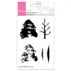 Crafts Too 3D Clear Stamp Set - Multi Layer Tree (5pcs)