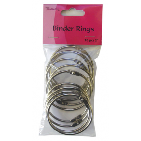 Crafts Too Binder Rings 10pcs 2""