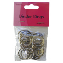 Crafts Too Binder Rings 20pcs 3/4""