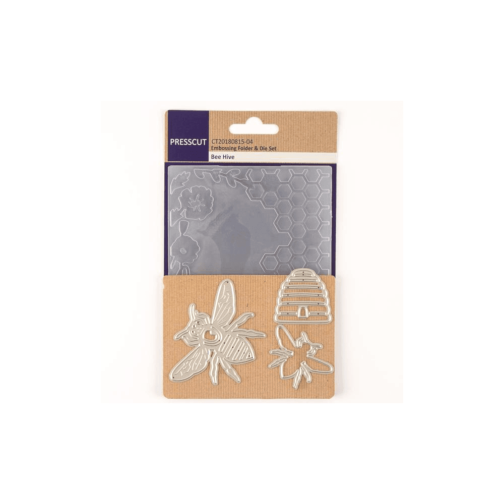 Presscut Crafts Too Press Cut - Embossing Folder and Die Set - Bee Hive