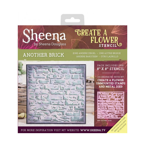 "Sheena Create a Flower 8"" x 8"" Stencil - Another Brick"