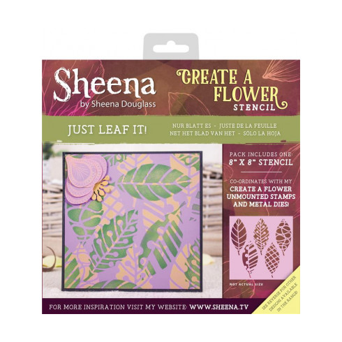 "Sheena Create a Flower 8"" x 8"" Stencil - Just Leaf It!"
