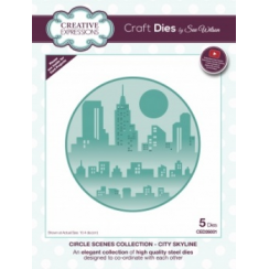Creative Expressions Craft Dies by Sue Wilson - Circle Scenes Collection - City Skyline