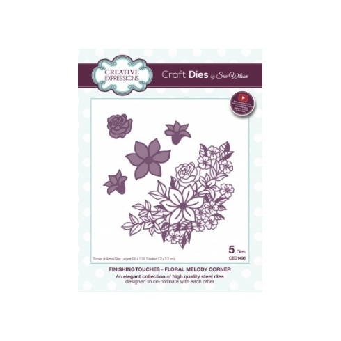 Sue Wilson Creative Expressions Craft Dies by Sue Wilson - Finishing Touches Collection - Floral Melody Corner
