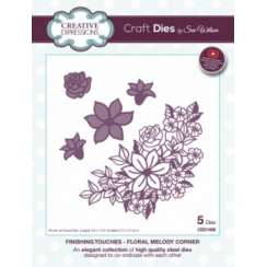 Creative Expressions Craft Dies by Sue Wilson - Finishing Touches Collection - Floral Melody Corner