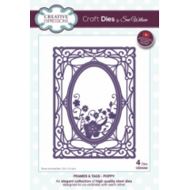 Creative Expressions Craft Dies by Sue Wilson - Frames & Tags - Poppy