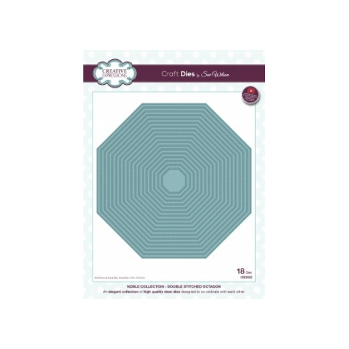 Sue Wilson Creative Expressions Craft Dies by Sue Wilson - Noble Collection - Double Stitched Octagon