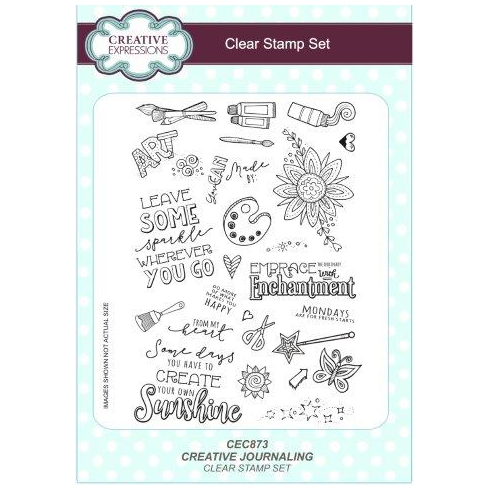 Creative Expressions Creative Journaling A5 Clear Stamp Set