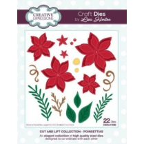 Creative Expressions Cut and Lift Collection - Poinsettias