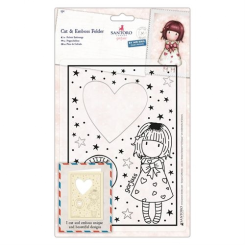 Docrafts Cut & Emboss Folder - Santoro - Little Heart