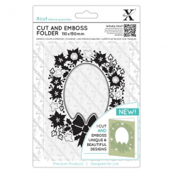 X-cut Cut & Emboss Folder - Wreath Aperture