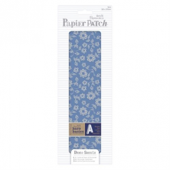 Papermania Deco Sheets (3pcs) - Papier Patch - Blue Linear Flowers