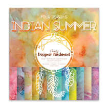 "Clarity Designer Parchment Pack 8"" X 8"" - Indian Summer"