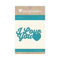 Diamond Press Word Dies - I Love You