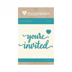 Diamond Press Word Dies - Youre Invited