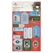 Gorjuss Die-cut Sentiments (2pk) - Santoro