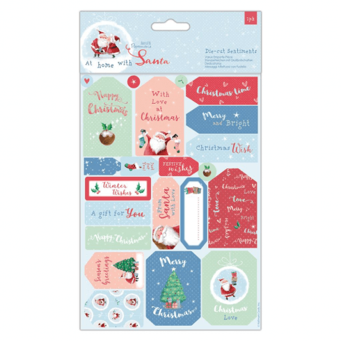 Papermania DIE-CUT SENTIMENTS & TOPPERS (32PCS) - AT HOME WITH SANTA